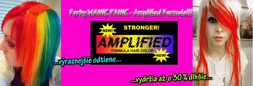 Farby MANIC PANIC Amplified Formula v SpikeStreetShop.sk