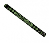 FALL OUT BOY - Black Narrow Wristband With Green Print - kožený náramok (Výpreda