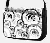 Retro taška FLOWER EVOLUTION - Black White Music Street Bag