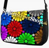 Retro taška FLOWER EVOLUTION - Colour Big Flowers Street Bag