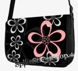 Retro taška FLOWER EVOLUTION - Flowers Black Street Bag