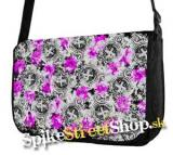 Retro taška FLOWER EVOLUTION - Buttons Street Bag - Grey Pink Model