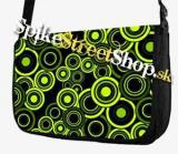 Retro taška FLOWER EVOLUTION - Green Circle Street Bag