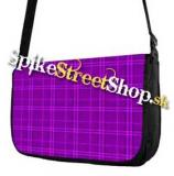 Retro taška FLOWER EVOLUTION - Purple Checked Street Bag