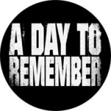 A DAY TO REMEMBER - White Logo - odznak