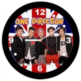 ONE DIRECTION - UK Flag & Band - nástenné hodiny