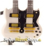 Gitara ALEX LIFESON - GIBSON RUSH DOUBLE NECK - Mini Guitar USA