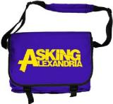 ASKING ALEXANDRIA - Logo Retro Messenger Purple - taška na rameno (-30%=AKCIA)