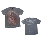 ALCHEMY - Mors Certa Vintage Stained Grey T-shirt - pánske tričko