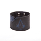 ASSASSINS CREED UNITY - Black and Blue Wristband - kožený náramok