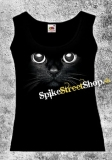 CAT - Mačička - Ladies Vest Top čierny