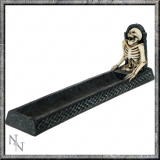 GOTHIC COLLECTION - Rest In Ashes Incense Holder 24cm  - stojan na vonné tyčinky