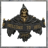 GOTHIC COLLECTION - Welcome To Hell 25cm (P12) - nástenná dekorácia
