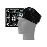 HAPPY TREE FRIENDS - Black&White Bandana - čierna bandana šatka