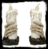 GOTHIC COLLECTION - Skeleton Hand Candle Lights Set of 2 15.8cm - svietidlo