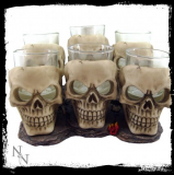 GOTHIC COLLECTION - Six Shooter Skulls 10cm (set of 6) - pohár