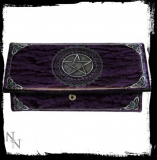 GOTHIC COLLECTION - Purse Pentagram Purple (LL) 18cm - peňaženka