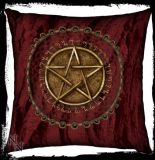 GOTHIC COLLECTION - Cushion Soft Textile Pentagram Red (LL) 42cm - vankúš