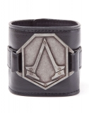 ASSASSINS CREED - PU Wristband with Metal Logo - kožený náramok