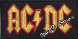 AC/DC - Red/Yellow/Black Logo - nažehlovacia nášivka
