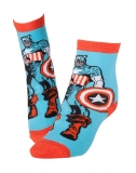 MARVEL COMICS - Captain America and Shield Socks - ponožky