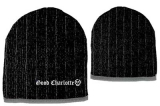 GOOD CHARLOTTE - Black Grey Striped Beanie - zimná čiapka