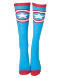 CAPTAIN AMERICA - Civil War Shield Logo Knee High Socks - ponožky