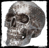 GOTHIC COLLECTION - Rivet Head 19cm - lebka