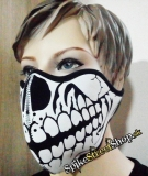 SKULL - Black & White Skull Teeth Torso 1 - maska