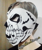SKULL - Black & White Skull Fangs Torso 1 With Eyes Protector - maska