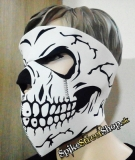SKULL - Black & White Skull Teeth Torso 1 With Eyes Protector - maska