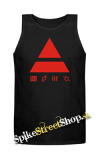 30 SECONDS TO MARS - Red Triad - Mens Vest Tank Top - čierne