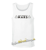 30 SECONDS TO MARS - Logo - Mens Vest Tank Top - biele