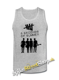 5 SECONDS OF SUMMER - Logo & Band - Mens Vest Tank Top - šedé