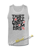 30 SECONDS TO MARS - Anthem - Mens Vest Tank Top - šedé