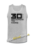 30 SECONDS TO MARS - Big Logo - Mens Vest Tank Top - šedé
