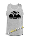30 SECONDS TO MARS - Logo And Band - Mens Vest Tank Top - šedé