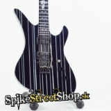 Gitara AVENGED SEVENFOLD - SYNYSTER GATES SCHECTER BLACK WHITE - Mini Guitar USA