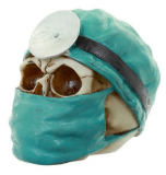 GOTHIC COLLECTION - Surgeon Design Skull Figurine - lebka