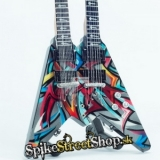 Gitara DAVE MUSTAINE - MEGADETH - DOUBLE NECK FLYING V - Mini Guitar USA