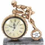 GOTHIC COLLECTION - Wheels of Time Skeleton Novelty Table Cloc - stolové hodiny