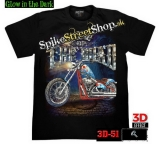 BIKER COLLECTION - King Of The Road - čierne pánske 3D tričko