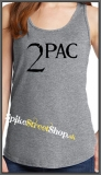 2 PAC - Logo - Ladies Vest Top - šedé