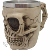 GOTHIC COLLECTION - Grinning Skull Tankard Large 18.5cm - krígel