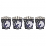 GOTHIC COLLECTION - Unicorn Elixir Shot Glass (Set of 4) 6.5cm - pohár