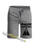 IMAGINE DRAGONS - Evolve Triangle White - Kraťasy vo farbe sivý melír