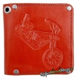 BIKER COLLECTION - Red Leather Wallet - peňaženka