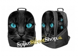 BLACK CAT TURQUOISE EYES - ruksak 3D Big Fullprint