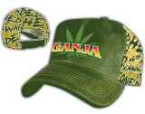 GANJA - Green Canvas Trucker Cap - šiltovka