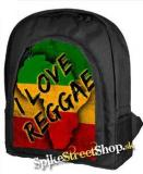 I LOVE REGGAE - RASTA COLOUR - ruksak